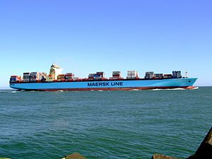 Maersk Sofia p01 approaching Port of Rotterdam, Holland 04-Aug-2007.jpg
