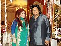 Magician Krishna Bhandari with Shahnaz hussain durinh EID party.JPG