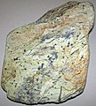 Magnetitic serpentinite (East Dover Ultramafic Body, Ordovician; Adams Brook, east of East Dover, Vermont, USA) 2 (32577563648).jpg