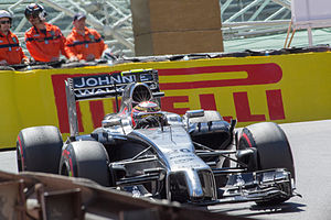 2014 Monaco Grand Prix - Kevin Magnussen scored one point in tenth place.