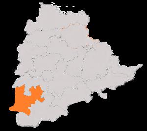 Mahabubnagar (Lok Sabha constituency) - Boundary of Mahabubnagar Constituency in Telangana