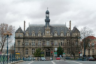 Pantin - The town hall of Pantin