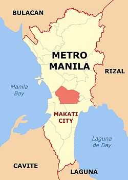 Makati NCR location Map.jpg