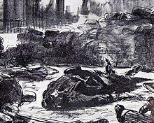 Guerre civile , lithographie