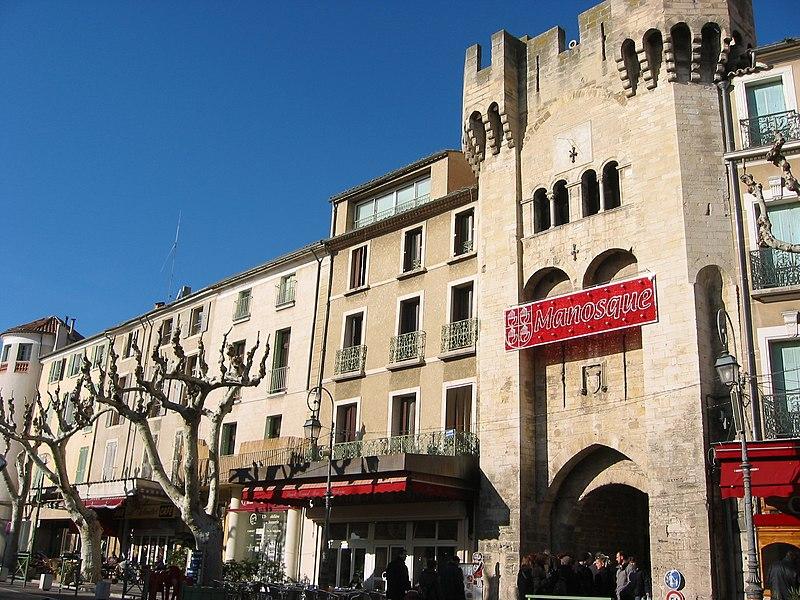 Porte Saunerie (porte du sel) (1382) , Manosque, Provence, France