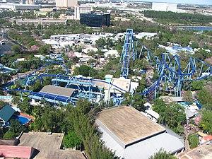 Manta (SeaWorld Orlando) - An overview of Manta's track layout
