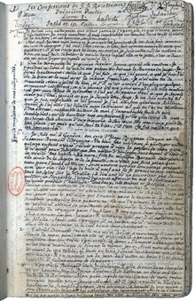 Reproduction d'un feuillet manuscrit.
