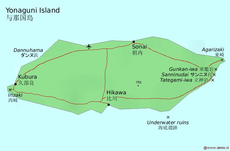 Map-yonaguni