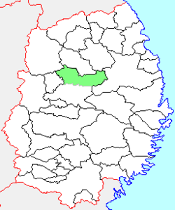 Location of Tamayama in Iwate Prefecture