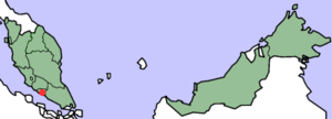 Crown Colony of Malacca - Location of Malacca