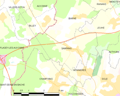 Map commune FR insee code 39501.png