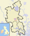 Map of Buckinghamshire with Aylesbury Urban Area highlighted.png