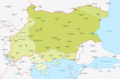 Map of Bulgaria during WWII-IT.png