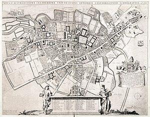 Timeline of Cambridge - Map of Cambridge, 1688