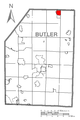 Map of Cherry Valley, Butler County, Pennsylvania Highlighted.png
