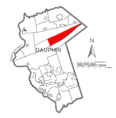 Map of Dauphin County, Pennsylvania Highlighting Jefferson Township.PNG