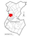 Map of Huntingdon County, Pennsylvania Highlighting Walker Township.PNG
