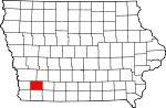 Map of Iowa highlighting Montgomery County.svg