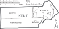 Map of Kent County Rhode Island With Municipal Labels.PNG