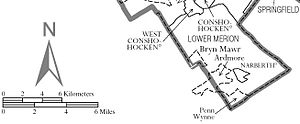 Lower Merion Township, Pennsylvania - Map of Lower Merion Township.