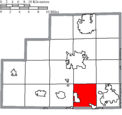 Location of Guilford Township in Medina County