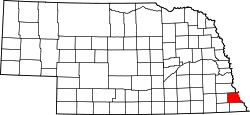 Map of Nebraska highlighting Nemaha County.svg