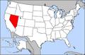 Map of USA highlighting Nevada.png