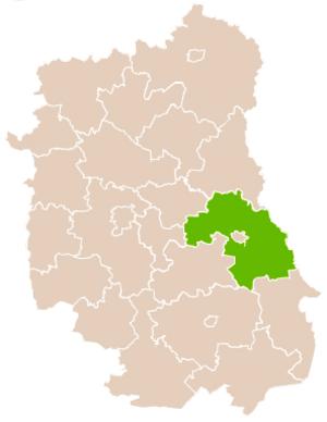 Chełm County - Image: Mapa Pow Chełmski