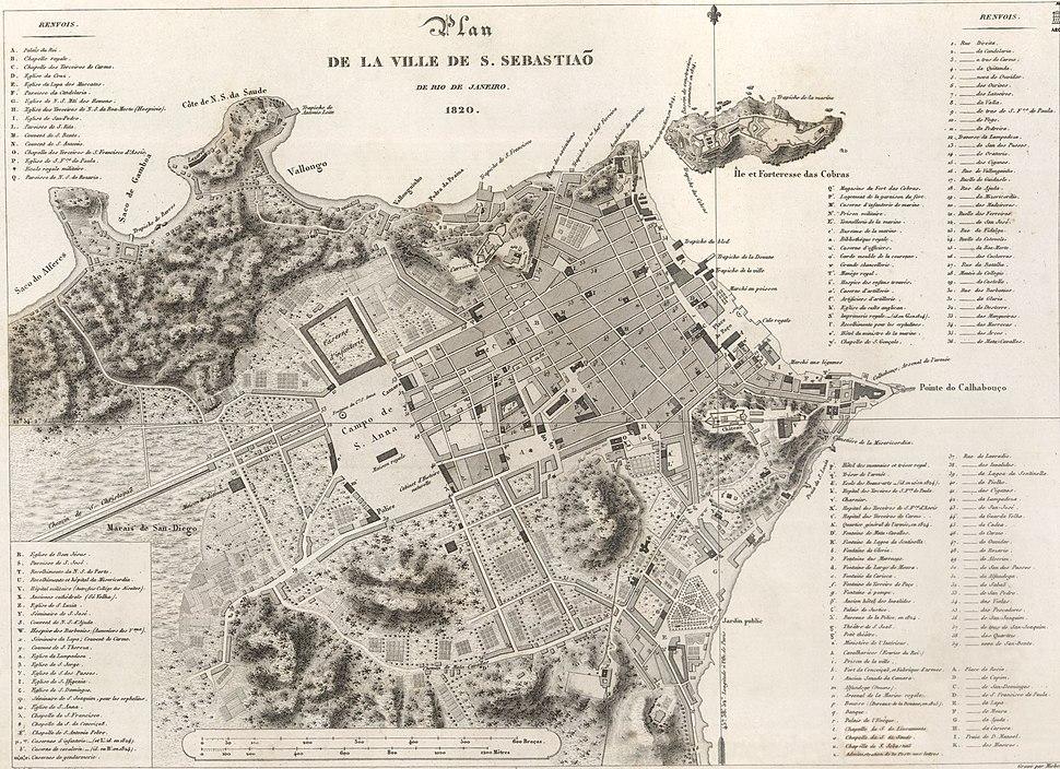 Mapa da cidade do Rio de Janeiro