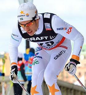 Marcus Hellner på Royal Palace Sprint  i Stockholm den 20 mars 2013.