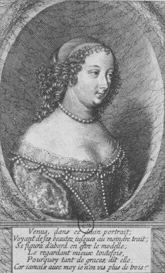 Marguerite, Duchess of Rohan - Engraving of Madame de Rohan