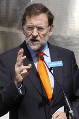 Rajoy durante un mitin en Bilbao en 2007