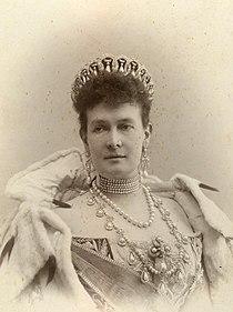 Grand Duchess Maria Pavlovna wearing the famous Vladimir Tiara