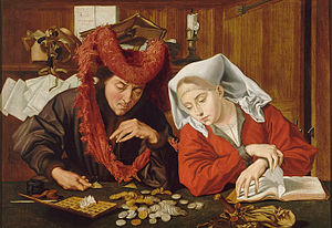 The Money Changer and His Wife - Image: Marinus van Reymerswale 007