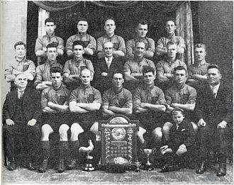 Andrew O'Brien (rugby) - Marist in 1929, O'Brien is far right in the front row