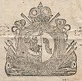 Marjana Sanguška (Lubamirskaja), Pahonia. Мар'яна Сангушка (Любамірская), Пагоня (1729).jpg