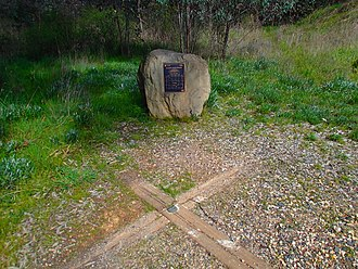 Centre points of Australia - Marker for the geographic centre of the state of Victoria.