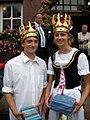 Markgröningen Schäferlauf 2008 Schäferkönigspaar.JPG