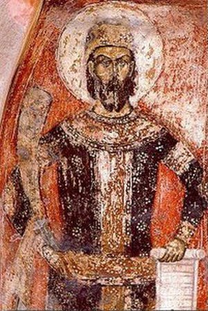 Marko's Monastery - Fresco depicting King Marko
