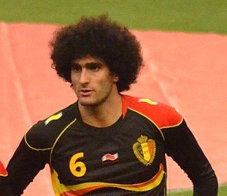 Fellaini before an international friendly against the United States in 2013 Marouane Fellaini vs USA.jpg