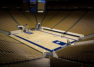 BYU Cougars - The Marriott Center, home to the Cougars' men's and women's basketball teams