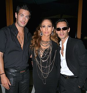 Kostas Martakis, Jennifer Lopez and Marc Anthony
