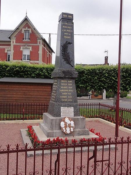 Martigny (Aisne) monument aux morts