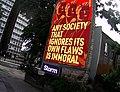 Martin Firrell Immoral Flaws public art Union City Series (with Clare Short) Digital Billboards, UK 2019.jpg