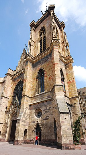 St Martin's Church, Colmar - Image: Martinsmünster Colmar Turm