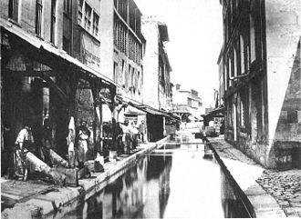 Bièvre (river) - Tanneries along the Bièvre, late 19th-century