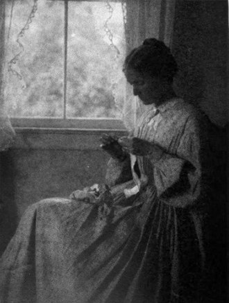 Mary Tannahill - Mary Harvey Tannahill, Untitled (Woman sitting by a window), Competition for Women Photographers, 1912