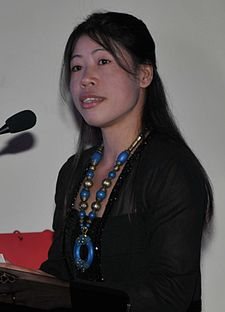 Mary Kom - British High Commission, Delhi, 27 July 2011.jpg
