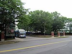 Massport buses at Chelsea garage (future Silver Line station site), July 2015.JPG