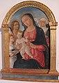 Matteo di giovanni, madonna col bambino con santa caterina da siena, sebastiano e un angelo.JPG